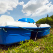 Paddle boat at rest at the beach. — Stock Photo