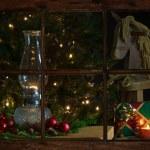 Window view christmas livingroom. — Stock Photo #36583209