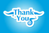 Thank you graphic — Stock Vector