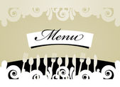 Restaurant Menu Card — Stock Vector