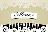 Restaurant Menu Card — Stock Vector