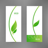 Eco banners templates — Stock Vector