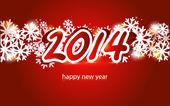 New year 2014 card — Stock Vector