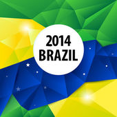 Geometric Brazil 2014 background — Vector de stock