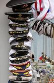 St. Petersburg souvenirs. Souvenir hats and caps — Stock Photo