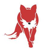 Running Fox Icon 02 — Stock Vector