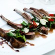 Grilled lamb chops - Stock Photo
