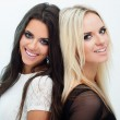 Two girlfriends - Stockfoto