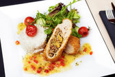 Stuffed chicken fillet — Stock Photo
