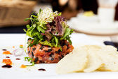 Salmon tartar — Stock Photo