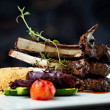 Grilled lamb - Foto Stock