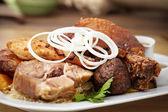 Meat feast — Stock Photo