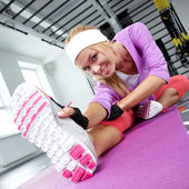 Stretching the muscles — Stock Photo