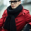 Red coat — Stock Photo