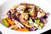 Salad with prawns — Stock fotografie
