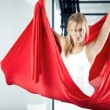 Stock Photo: Antigravity yoga