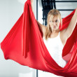 Antigravity yoga — Stock fotografie