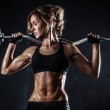 Fitness with barbell — Stock Photo #41715819