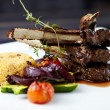 grilled lamb — Stock Photo