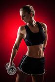 Fitness mit hanteln — Stockfoto