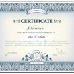 Detailed certificate — Stock Vector