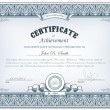 Detailed certificate — Stock Vector