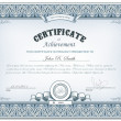 Stock Vector: Detailed certificate