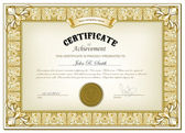 Gold certificate — Stock Vector
