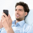Man using a mobile smart phone — Stock Photo #12547725