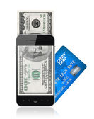 Mobile payment concept — Stock Photo