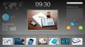 近代的なデスクトップ インターフェイス — ストック写真