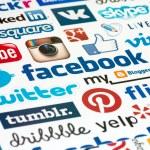 Social Media Logotype Background — Stock Photo