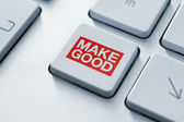 Making good magic button — Stock Photo