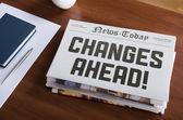 изменения впереди — Стоковое фото