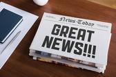 Harika bir haber — Stok fotoğraf