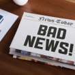 Stock Photo: Bad news