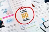 Internet banner concept — Stock Photo