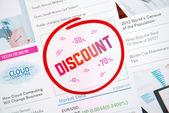 Discount internet advertisement — Stock Photo