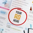 Your AD Here Concept — Stock Photo