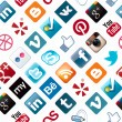 Social Media Icons Seamless Pattern - Foto de Stock