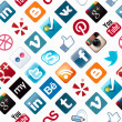Social Media Icons Seamless Pattern - Lizenzfreies Foto