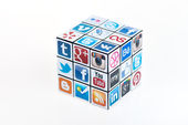 Social Media Rubick's Cube — Stock Photo
