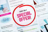 Special offer proposal — Stock Photo