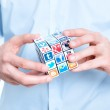Solving a media puzzle — Stock Photo #21514509