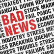 Stock Photo: Typographical print of Bad News