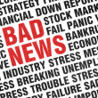 Typographical print of Bad News — Stock Photo #22395725