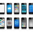 Smartphone collection — Stock Photo