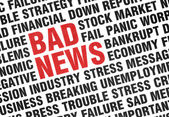 Typographical print of Bad News — Stock Photo