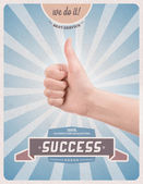Retro style poster of guaranteed success — Stock Photo