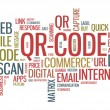 QR code word cloud illustration - Vettoriali Stock